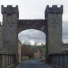 Ancient bridge on the way to Middleham Castle