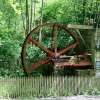 The water wheel at Cragside.