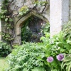 Romantic ruin in the garden of Sudeley Castle