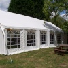 The marquee at the Hurdlemakers Arms