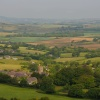 Uploders Village and Dorset Countryside looking from Local A35 Dorset Bypass Road - June 2009