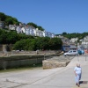Looe Harbour near RNLI Lifeboat Station - June 2009