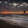 Dovercourt Beach before sunrise