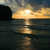 Sunset from Llangrannog Beach