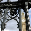 Big Ben through wrought iron at Westminster Abbey
