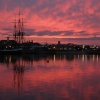 Red Sky on Hartlepool Marina