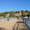 On the Historic Ironbridge looking over it - October 2009