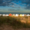 The Royal beachhuts at sunset