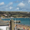 View of the beach at Swanage