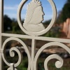 Detail on an iron gate in Caversham Court Gardens