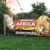 The sign for the Africa Alive wildlife park