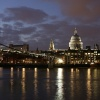 City of London, River Thames & skyline at night