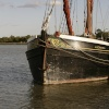 Barges on river Blackwater, Maldon, Essex