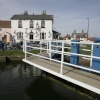 Lock and pub on the Estuary