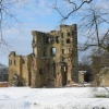 Ashby Castle in the snow