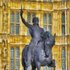 Richard the Lionheart statue, Houses of Parliament