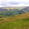 View of Edale Valley from Mam Tor.