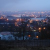 Rainy evening view of Old Hill to Dudley & Rowley
