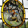 Stained glass at Beaulieu Palace House