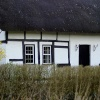 Thatched house.