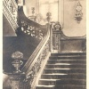 Dunster Castle Staircase 1950's Postcard