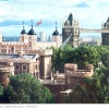 Tower of London and London Bridge, Postcard 1984