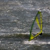Windsurfing on a rough day