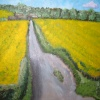 Acrylic painting on card of Home Farm, Wheatley