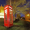 The traditional and original British telephone box