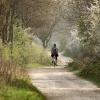 Cyclist on a byway at Mursley, Bucks