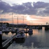 Sunset over Watchet Harbour
