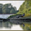 Fishing below Lincomb Weir on the River Severn.