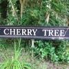 The Cherry Tree sign opposite pub