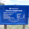 Dunwich Heath Welcome Board