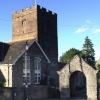 Llangattock. The Parish Church Of St Catwg