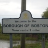Boston, town sign