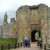 Warkworth Castle Gatehouse outside view