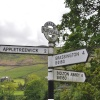 Signpost to Appletreewick (2 Miles away)