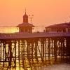 Sunset over St Anne's pier