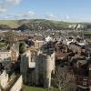 Looking East from the Castle keep, Lewes