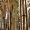 Light painted pillar in Lincoln Cathedral