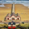 Saltburn Cliff Lift and Pier.