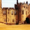Alnwick Castle in strange light