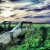 Birkdale footbridge, Southport. UK.