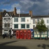 Four telephone boxes at Market Place