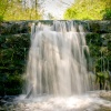 Waterfall at Roche Abbey, South Yorks
