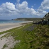 Broad sweep of beach at Sennen Cove, Cornwall