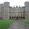 Hardwick Hall on a wet, cold Spring day