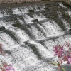 Close up of the Weir at Bretton near Wakefield