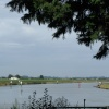 River Waveney and the Bernie Alms pub near Burgh Castle